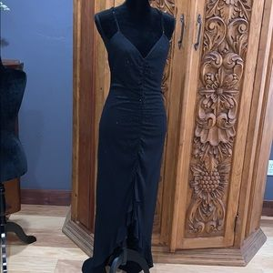 EUC Jouani size 10 black beaded gown